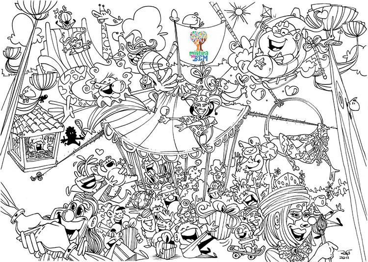 Ilustração Mistura do Bem