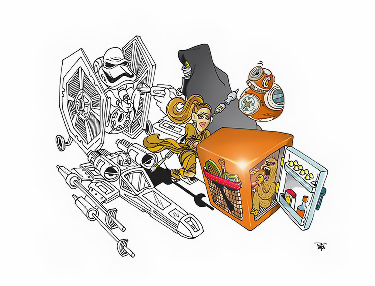 Ilustração Star Wars